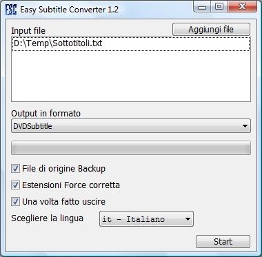 Easy Subtitle Converter