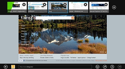 Internet Explorer 10, integrato in Windows 8, consente di navigare sul Web usando le gesture