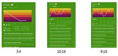 Windows 8. visualizzazione con orientamento verticale